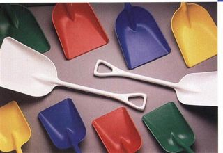 "Plastic Shovels (11"" Wide) - Red"
