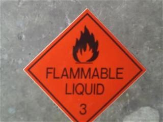Flammable Liquid 3 S/a Sign (15 X15cm)