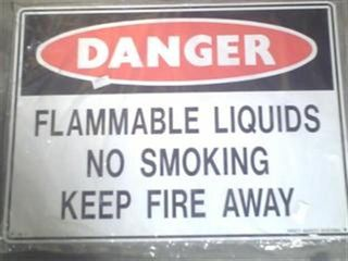 Sign - Danger Flammable Liquid 600x450 M
