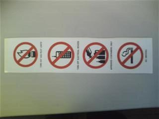 Prohibition Sign  - 4 Symbol Serv Stn