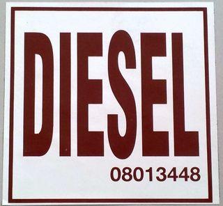 Sign - Diesel - S/a (100x100)mm