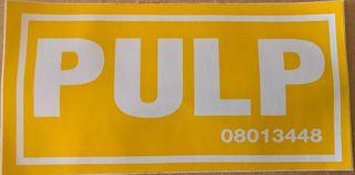 Sign -  P U L P - S/a (110x60)mm