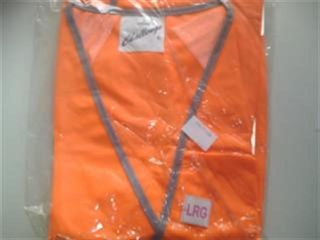 Safety Vest Orange Reflective Large