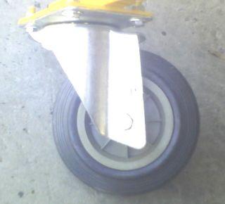 Swivel Castors (160mm) Rubber Wheel