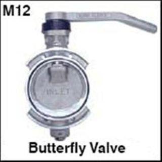 Butterfly Valve C/w Handle 100mm (viton)