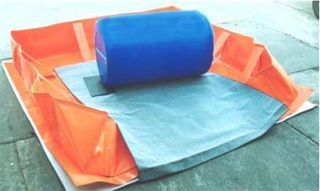 Collapsible Bund Ground Protector.
