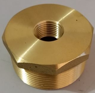 "Red. Bush 2"" X 1/2"" (50mmx13mm) - Brass"
