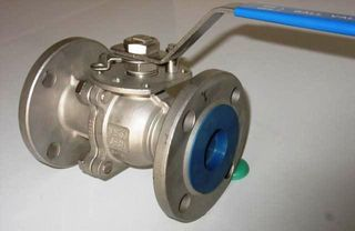 "Ball Valve  With Round Flanges (4"")"