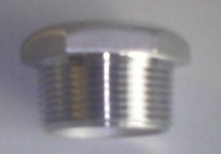 Hex Plug 4in - S/s