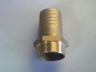 """Brass Hosetail 4"""" (4"""" Bsp X 4"""" H/t)"""