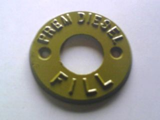 Fill Marker - Prem Diesel (tan) - Metal