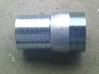 "Combination Nipple 4"" Steel Plated"