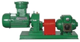 Rotary Vane Pump - 4in & Electric Motor
