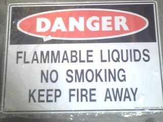 Sign - Danger Flamm. Materials 300x450 M