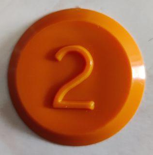 Tank Id Disk (orange) - No. 2 Sk