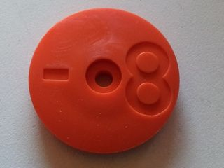 Tank Id Disk (orange) - No. 8