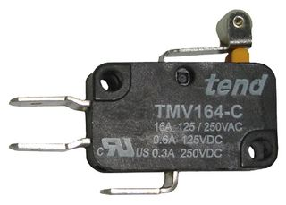 Compact Micro Switch 16A 14mm Roll Lever Actuator