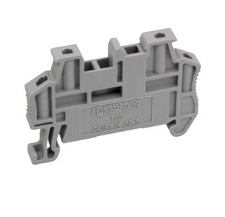 Terminal end clamp din mount