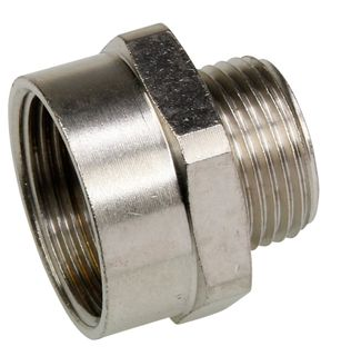 Convertor 20mm - 25mm Nickel plated brass