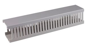 Slotted Duct Small Finger with Grey Lid  80x60