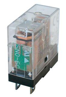 Relay Slimline 24VDC 1 Pole SPDT 10A & test button