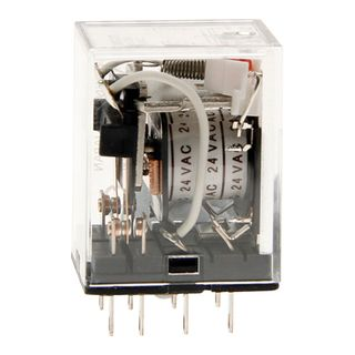Relay Square Pin 2 Pole 24VAC 8 Pin 10A with LED