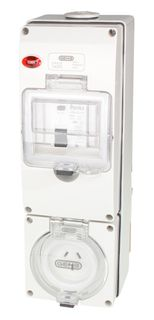 Switched Socket Outlet 3 Pin 10A RCD 3G base IP66