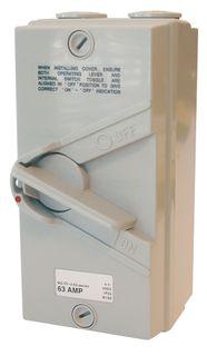 Isolator Enclosed IP56 3 Pole 63A