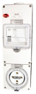 Switched Socket Outlet 5 Pin 32A RCD 3G base IP66