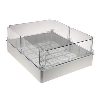 Enclosure PVC Clear Lid Grey Body 460x380x180
