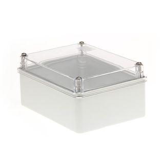 Enclosure PVC Clear Lid Grey Body 150x110x70