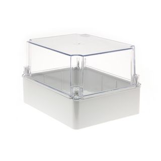 Enclosure PVC Clear Lid Grey Body 240x190x160