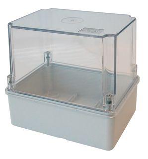 Enclosure PVC Cl Lid+Grey Body Hi Wall 190x140x110