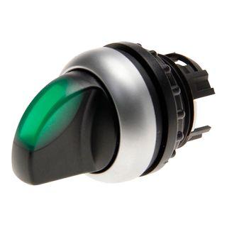 Selector Switch ILL 2 Position 60Deg Sp Ret Green
