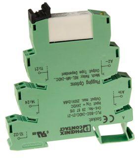 Relayand Base Plc Ultra Slim 2P 24VDC 2PDT 6A