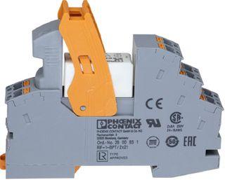 Relay and Base Slimline 1 pole 24VDC SPDT 10A