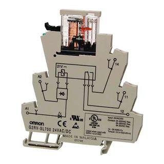 Relay Ultra Slim 1 Pole 24VAC/DC SPDT 6A