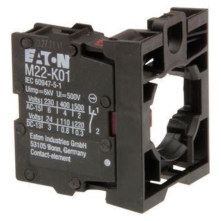 Contact Block with Adaptor 1 N/C