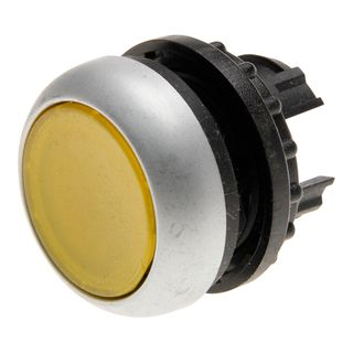 Pushbutton Illuminated Stay Put Yellow