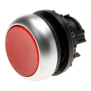 Pushbutton Illuminated Stay Put Red