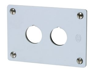 Flush Mounting Plate for Pushbuttons 2 Hole