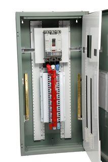 Distribution Board Grey 96 Pole 400A Main Switch