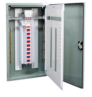 Distribution Board Grey 84 Pole 250A Main Switch