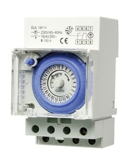 Time Clock Analogue 1 Chanel 54mm 24Hr Battery