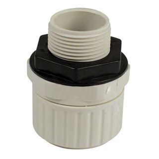 Conduit Fitting PVC 25mm Push Lock with L/Nut