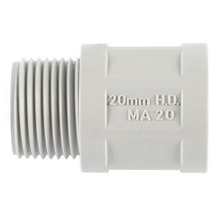 Conduit Fitting PVC 20mm Glue Lock Less Locknut