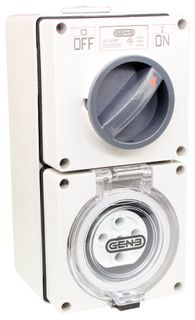 Switched Socket Outlet 5 Round Pin 20A 440V IP66