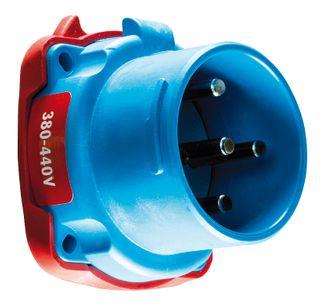 Socket Poly DSN6 63A 380-440V 3P+E Inlet