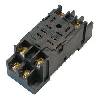 Relay Base for Square Pin 2 Pole 10A Izumi 8 Pin