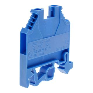 Terminal Din Mount 4mm Blue 32A